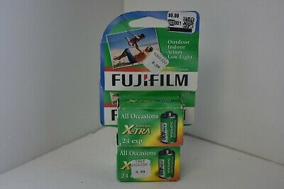 Lot of 2 Fujifilm 400 Speed 35mm Color Print Film 24 Exposures Each Exp. 03/19