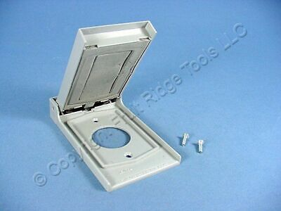 Leviton 4979-GY Weather Resistant Single Receptacle Outlet Cover Plate 1.406""