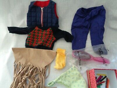 American Girl Dol Clothes, Hair Brush & 4 pairs of Shoes