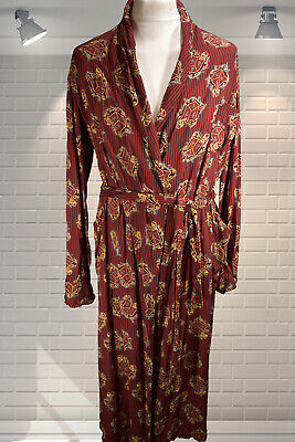 Vintage Gents 1960s Knight Crest Tootal Dandy Dressing Gown Smoking Jacket MED