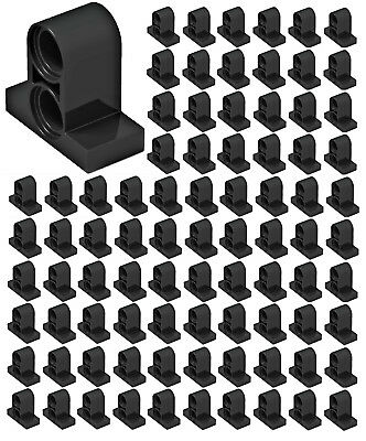 *NEW* 10 Pcs Lego DARK GRAY TECHNIC PIN Connector Plate 1 x 2 x 1 2//3 w 2 Holes