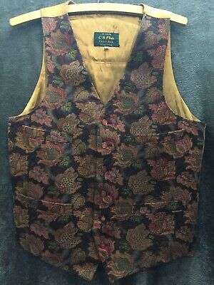 Vintage  Waistcoat/ CIB plus / Carpet Bags /  Size 38 / floral / made in britain