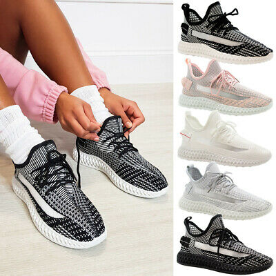 Ladies Lace Up Walking Sneaker Mesh Women Running Trainers Gym Sports Shoes Size