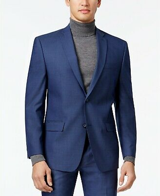 Marc New York Andrew Marc Mens Stretch Classic-Fit Suit Jacket Blue 48R NEW $395