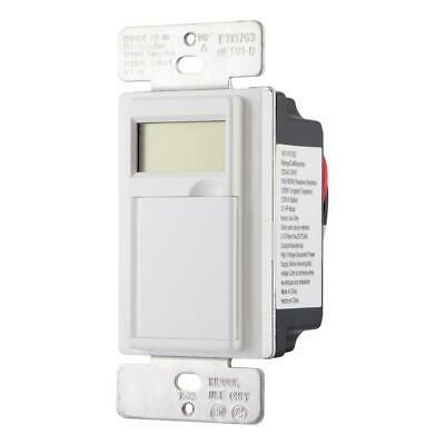 Defiant 15 Amp 7-Day In-Wall Digital CFL-LED Compatible Timer 13257 - Used