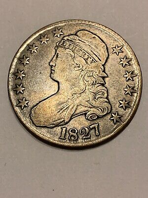 1827 Curl Base 2 Capped Bust Half Dollar  Higher Grade   (Silver)
