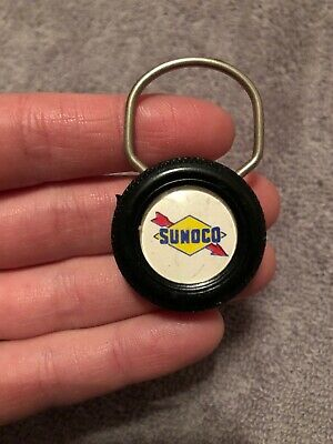 Vintage Sams Sunoco Tire Service Station Keychain Columbia City IN Gas Oil