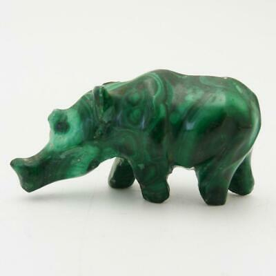 Chinese Carved Malachite Figure Of A Rhinoceros