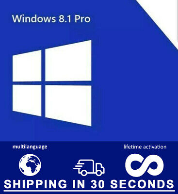Windows 8.1 Pro Prefessional - 32/64bit - Original Key - Multilingual