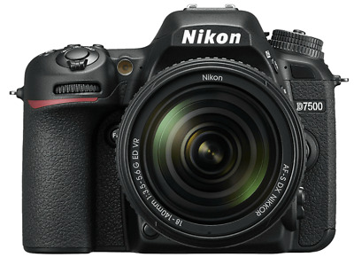 Cámara Réflex - Nikon D7500, 21 MP, 4K, WiFi, Bluetooth + Objetivo AF-S 18-140mm