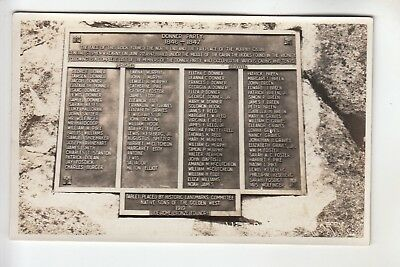 Real Photo Postcard The Donner Party Tablet near Truckee CA
