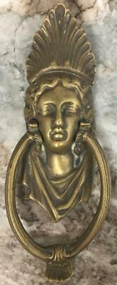 Antique Art Nouveau Brass Door Knocker Victorian ArtDeco French Figural lady