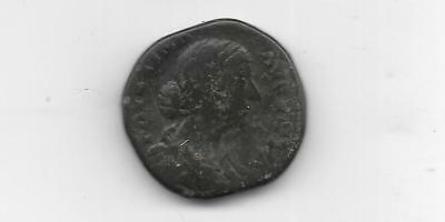 Ancient Roman Coin - Faustina Junior - Ae Sestertius - Free Shipping  (Anc 852)