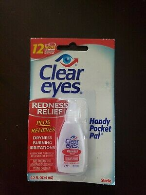 Clear Eyes Redness Relief Eye Drops 0.2 oz Pocket Size for on the go emergencies