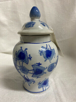 "Chinese Blue and White Porcelain 7.6""H Ginger Jar, Blue Character Mark"