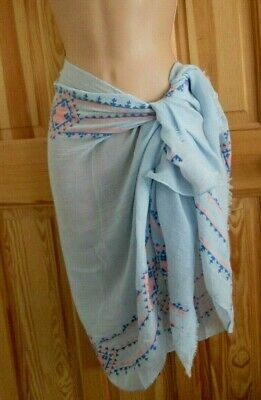 SP82 Maxi//Oversize Retro Striped Scarf//Hijab//Sarong//Wrap Mint,Blue,Pink,Beige