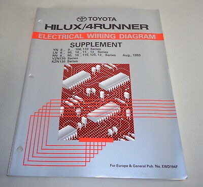 Workshop Manual Electric/Wiring Diagrams Toyota Cruiser/4Runner by 08/1993