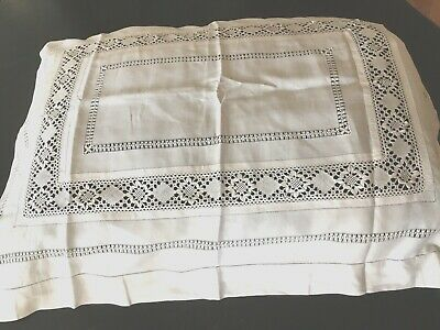 "Early 1900""s Hnd Md LARGE ITALIAN DECORATIVE PILLOW SHAM~BEAUTIFUL Condition"