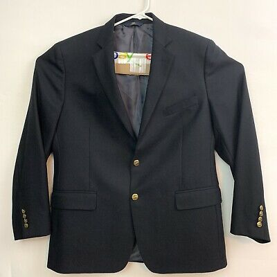 Brooks Brothers Mens 44R Black 1818 Fitzgerald Fit 2 button Blazer Suit Jacket