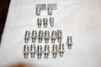 Assortment of Automotive Air Condition Fittings