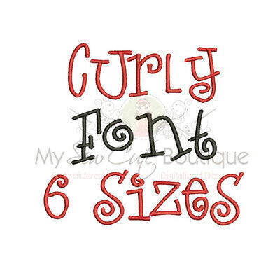 Curly Monogram Font - 6 Sizes - Instant Download - IMPFCD13