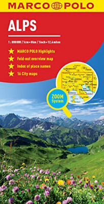 Alps Marco Polo Map Book New
