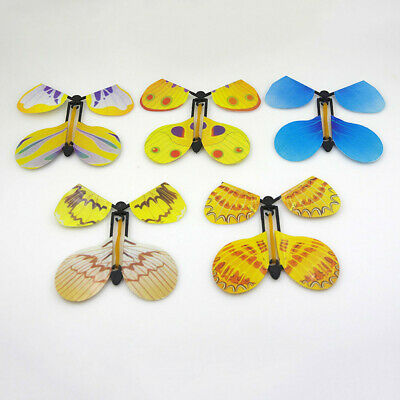 5pcs Magic Creative Flying Butterfly Change From Empty Hands Trick Prop Toy Gift