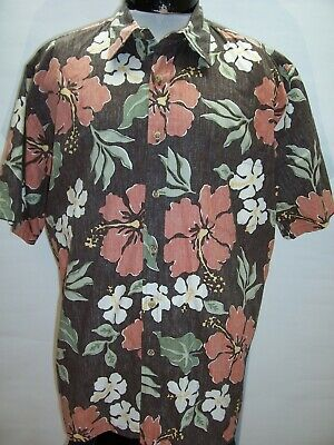 COOKE STREET Mens XL X-Large Hibiscus Button-up shirt Combine ship Discount