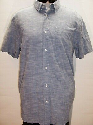 VOLCOM Mens XL X-Large blue Button-up shirt Combine ship Discount