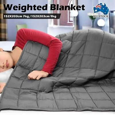 New Premium Weighted Blanket Adults Kids 7/9KG Heavy Gravity Soft Comfortable