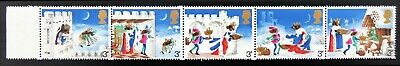 GB 1973 Xmas 3p Se-Tenant Strip with Multiple Colour Shift Error SUPERB NT493