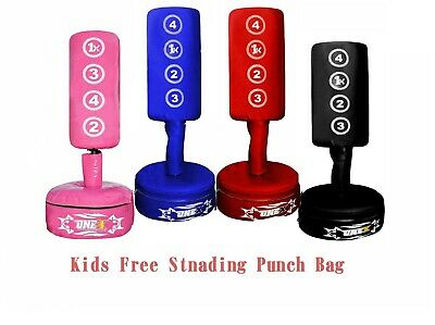 Kids Junior Free Standing Punch Bag 3-4ft Adjustable Heavy Duty Gym Training bag