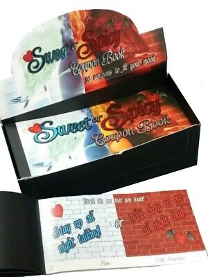 Sweet or Spicy Sex Coupon Voucher Book - Joke Valentines Gifts for Him or Her
