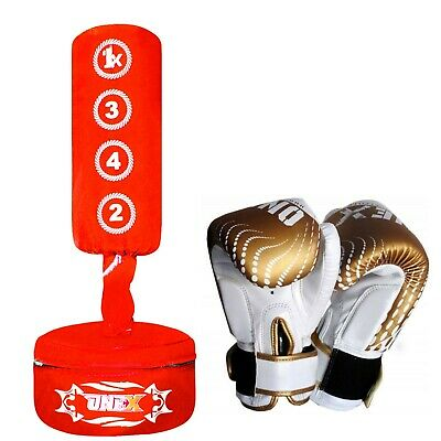Kids/Junior Freestanding Punch Bag Target Punching Strike MMA Heavy Duty Boxing