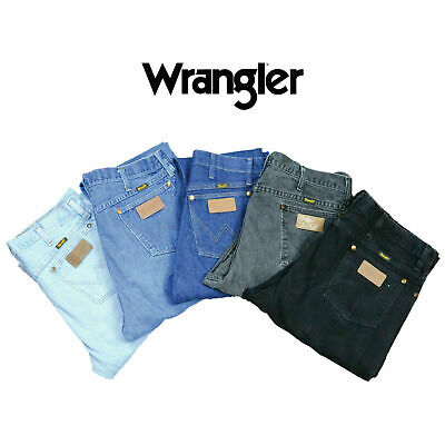 Mens Wrangler Jeans Iconic Stretch Denim Pants Regular Fit Trousers Bottom