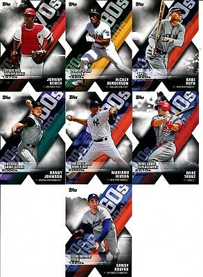2020 Topps Series 1 - DECADE OF DOMINANCE DIE-CUT INSERTS - U Pick From List
