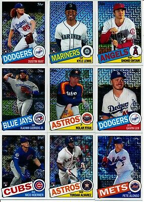 2020 Topps Series 1 - 1985 SILVER PACK CHROME MOJO INSERTS - U Pick From List