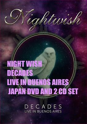 Night Wish Decades Live In Buenos Aires  Japan Dvd And 2 Cd Set