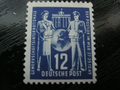 DDR East Germany Stamp 1949 SGE2 Postal Congress 12pf Mint/Unused