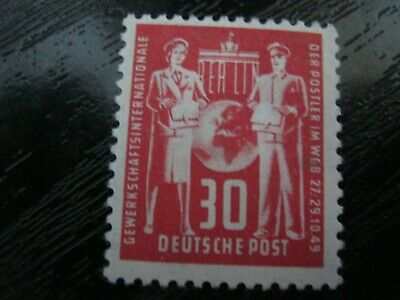 DDR East Germany Stamp 1949 SGE3 Postal Congress 30pf Mint/Unused