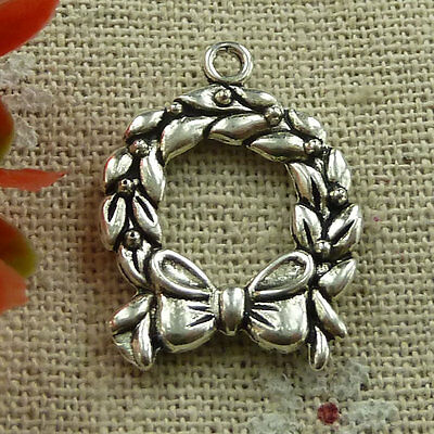 Free Ship 35 ieces Antique silver angel charms 25x18mm #1180