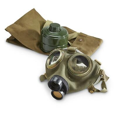 Gas Mask M76 Hungarian Military Surplus Collectible w/ Filter Cover Carry Bag