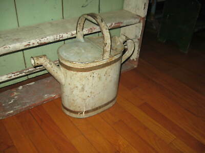 Excellent Big Antique Watering Can Beautiful Form, Detail,Old Dry Paint Aafa Nr