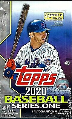 2020 Topps Series 1 Baseball Factory Sealed Hobby Box 1 Silver Pack**FREE SHIP**