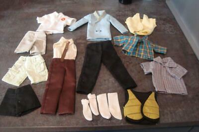 Bundle /  Selection Of Twelve Items Of Clothes For Barbie Ken Doll Or Similar