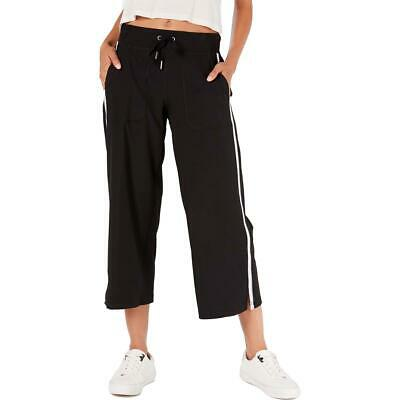 Calvin Klein Performance Womens Black Wide Leg Capri Pants Athletic M BHFO 2053