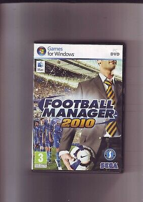 Football Manager 2010 - Pc & Apple Mac Game - Fast Post- Original & Complete Vgc