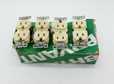 Bryant Electric 5242-I Duplicate Receptacle (Lot of 4)