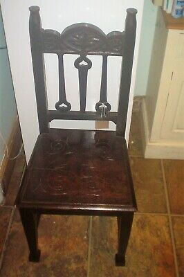 Arts And  Crafts Oak Hall Chair