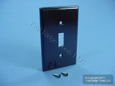Leviton Brown EXTRA DEEP Toggle Switch Cover 1-Gang Wall Plate Switchplate 85301
